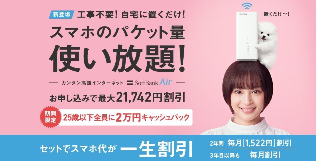 据置型ルーター SoftBank Air
