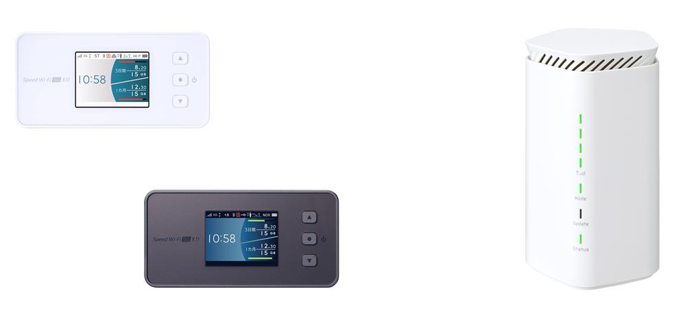 WiMAX+5G新端末発表
